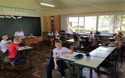 Klaslokaal in brazilie
